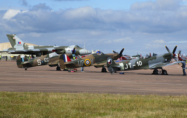 Spitfires and Vulcan at RIAT 2015