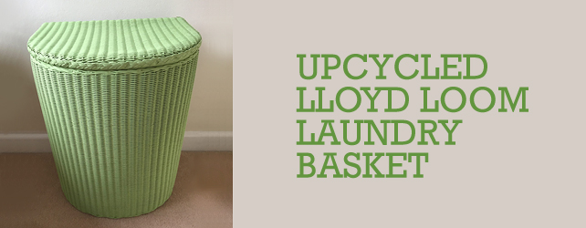 Upcycled Lloyd Loom Laundry Basket