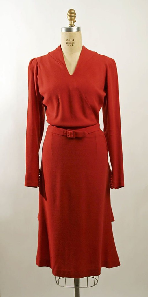 1930s heavy crepe dress