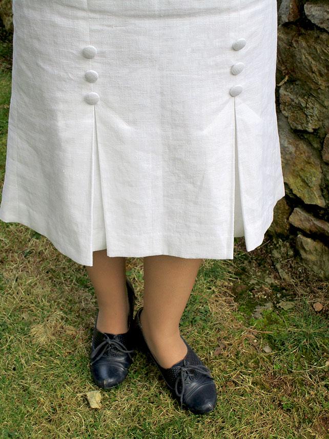 1930s linen skirt