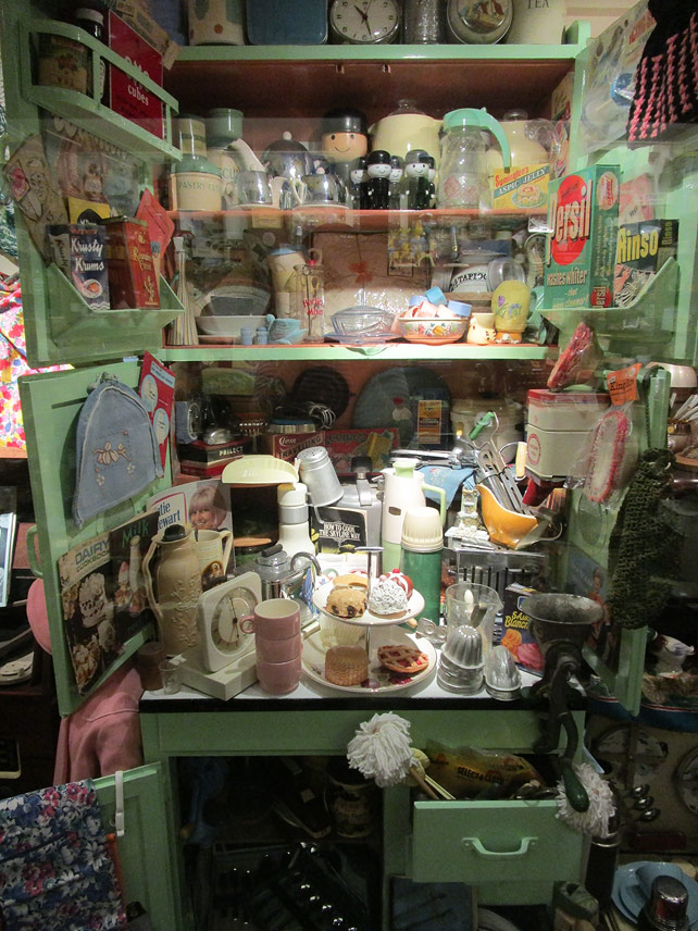 1950s pantry cupboard at Bygones