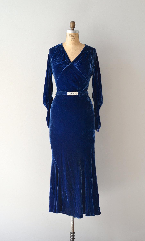 1930s Velvet Dress