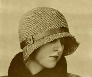 1920s cloche with buckle trim
