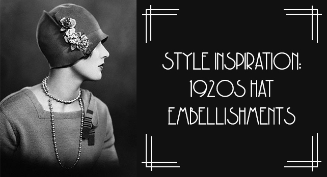 1920s hat embellishments