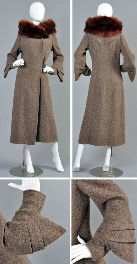 1930s fur trimmed coat