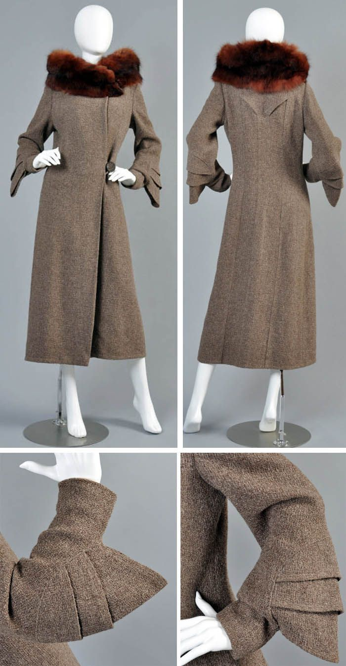1930s fur trimmed coat