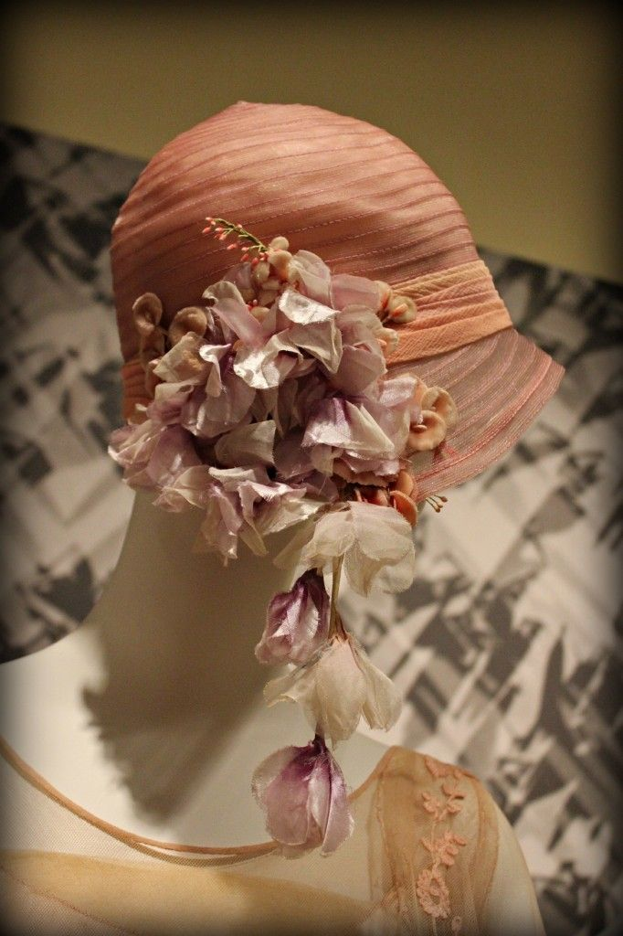 Cloche with hanging flowers