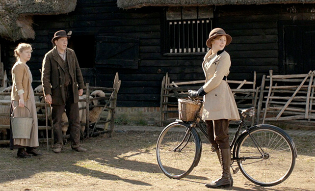 Lady Edith on a bike