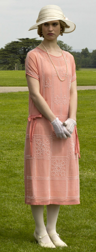 Rose pink dress, Downton Abbey