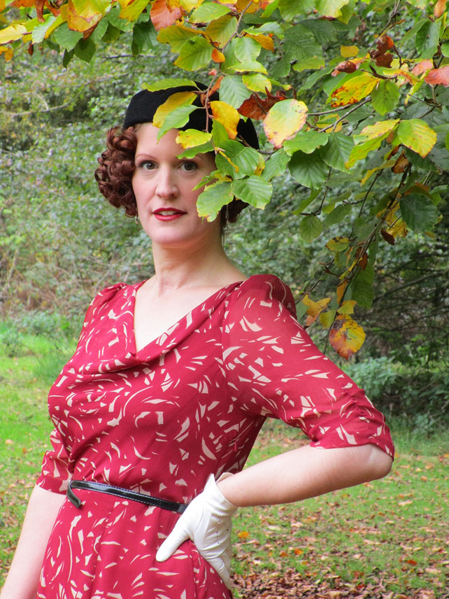 1930s style Autumn dress