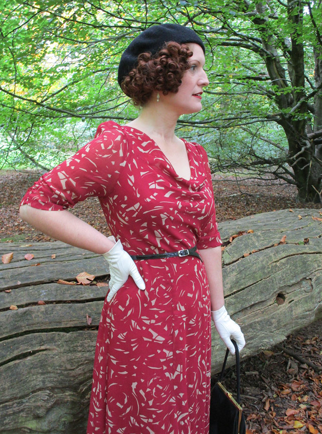 Autumnal 1930s Dress