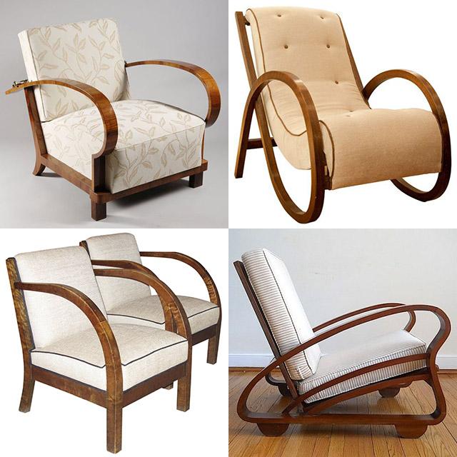 1930s armchairs