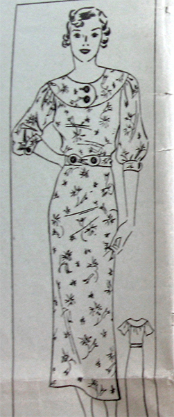 1930s dress sewing pattern