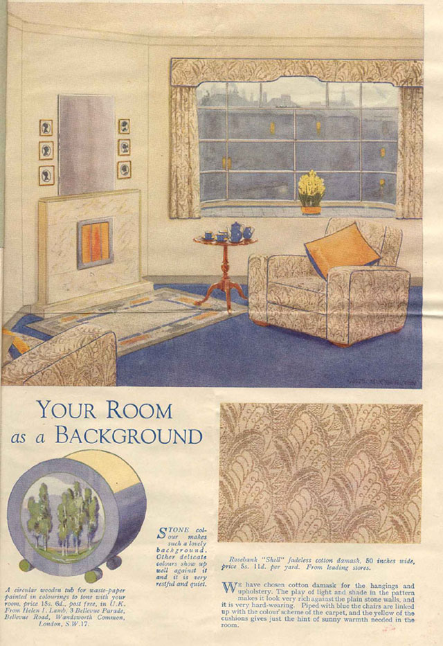 1930s living room advert