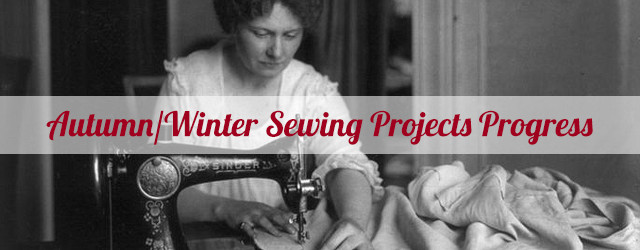 Autumn/Winter Sewing Projects Progress