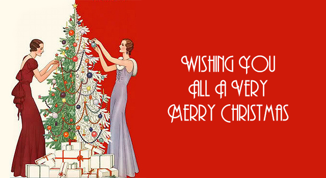 Merry Christmas To All.Wishing You All A Very Merry Christmas Vintage Gal