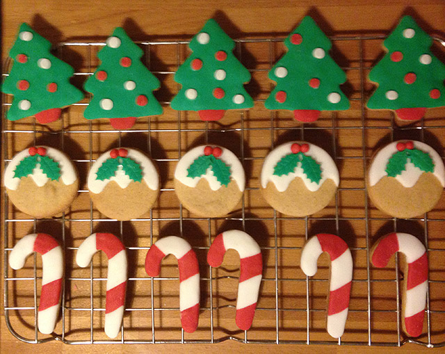 Christmas handmade biscuits