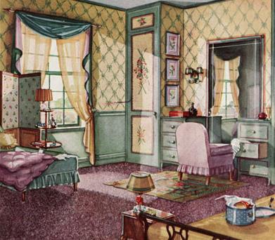 1930s bedroom