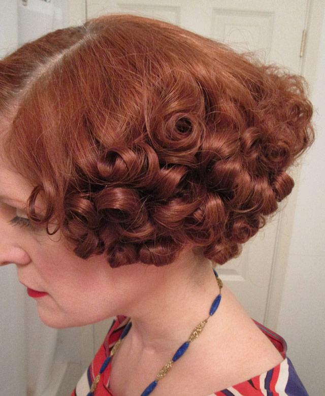 1930s curls taking shape