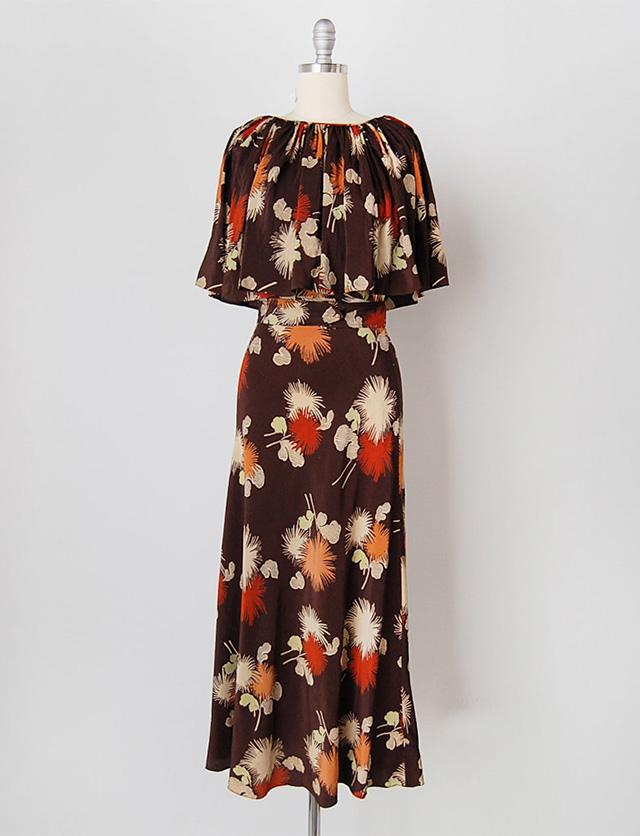 1930s floral dress