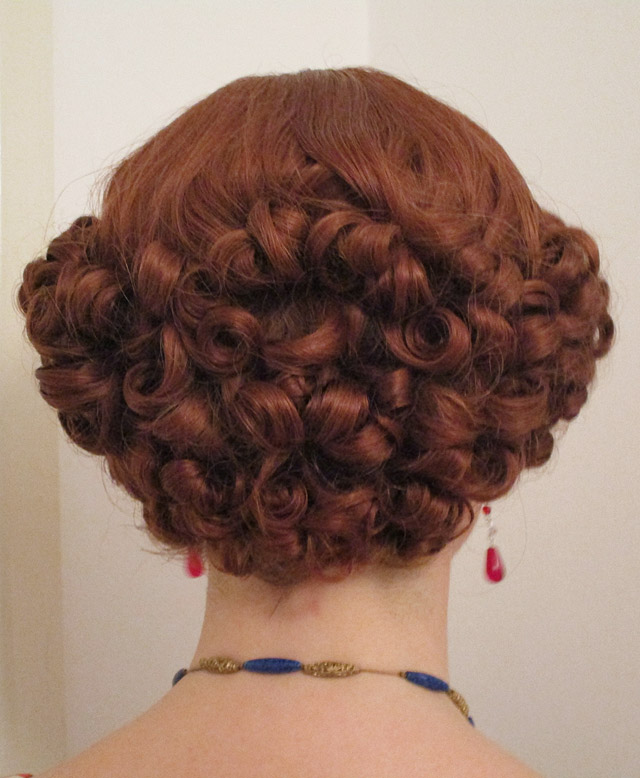 Back of 1930s hairstyle