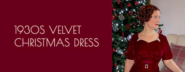 1930s Velvet Christmas Dress
