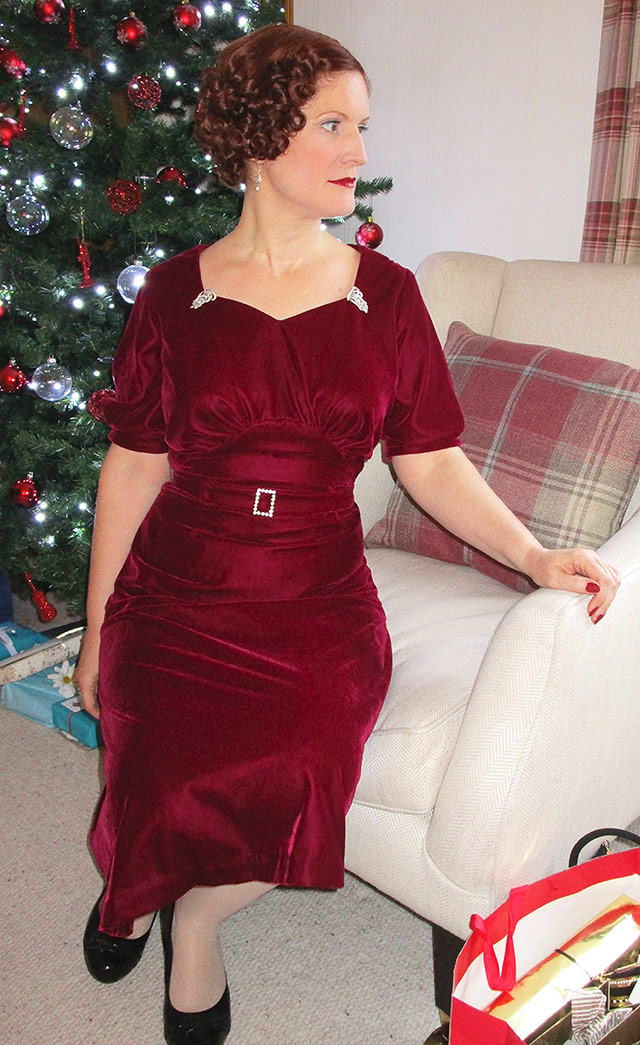 1930s velvet dress made by me