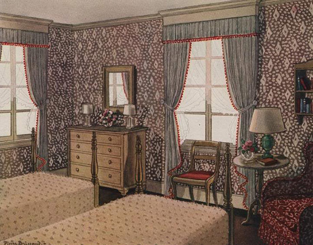 1930s bedroom curtains