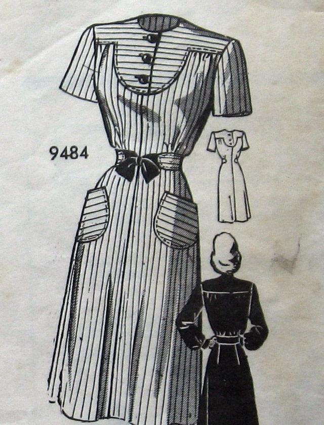 1940s dress pattern