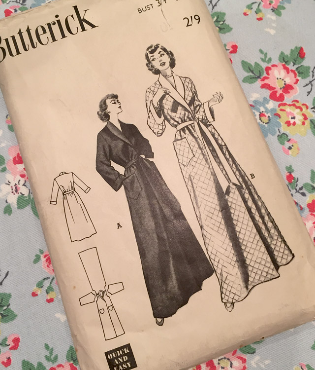 1950s dressing gown pattern