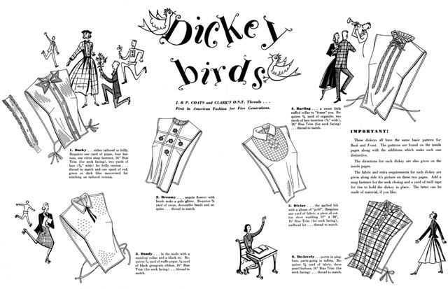 Pattern for making women's dickies