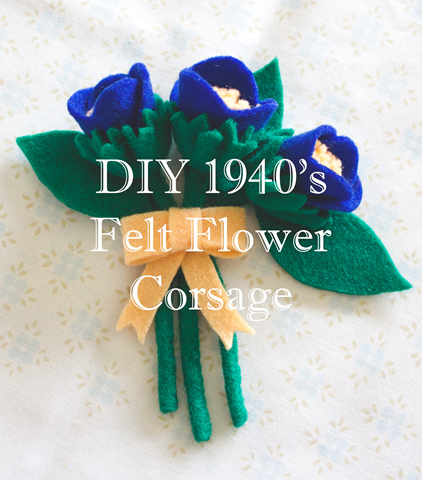 How To Make A 1940's Felt Flower Corsage Brooch