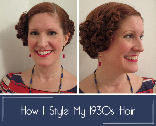 How to style 1930s hair