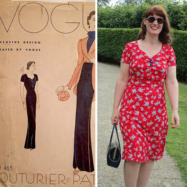 Late 1930s dress pattern