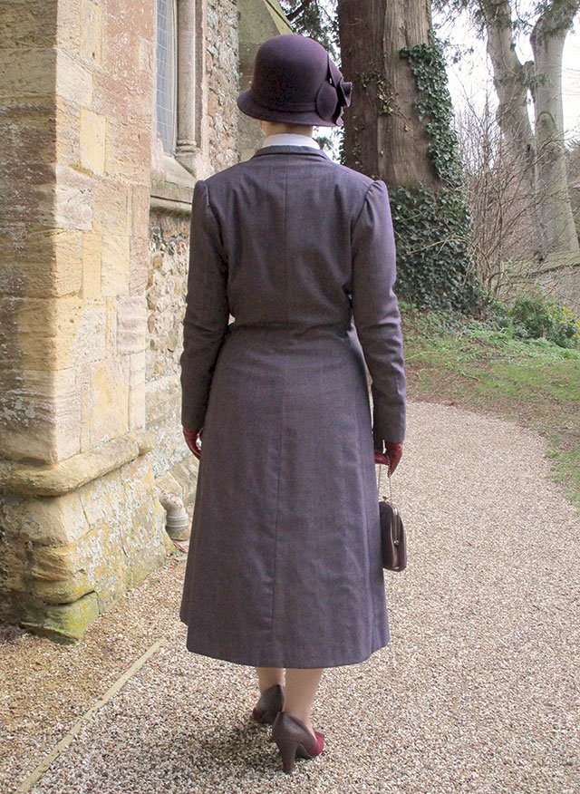 1930s lightweight coat from the back
