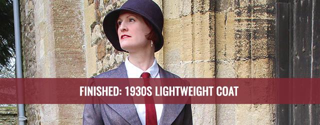 1930s lightweight coat