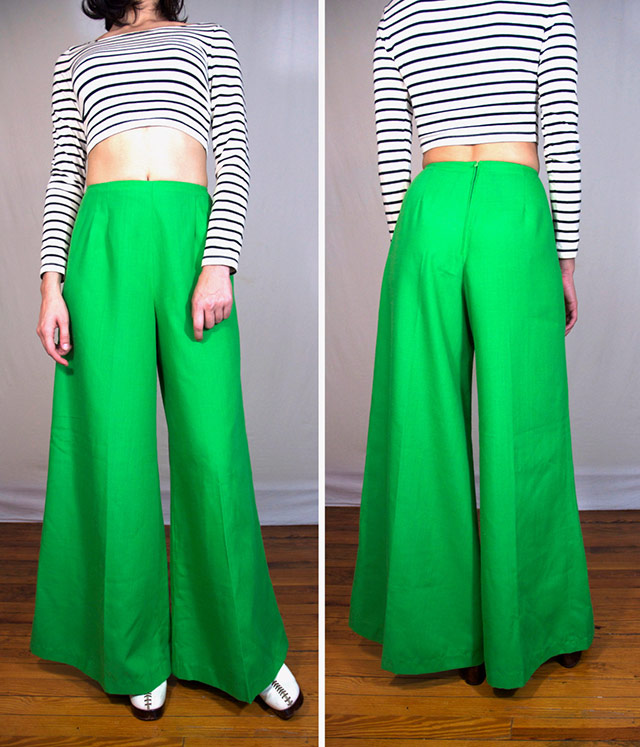 1970s wide leg trousers