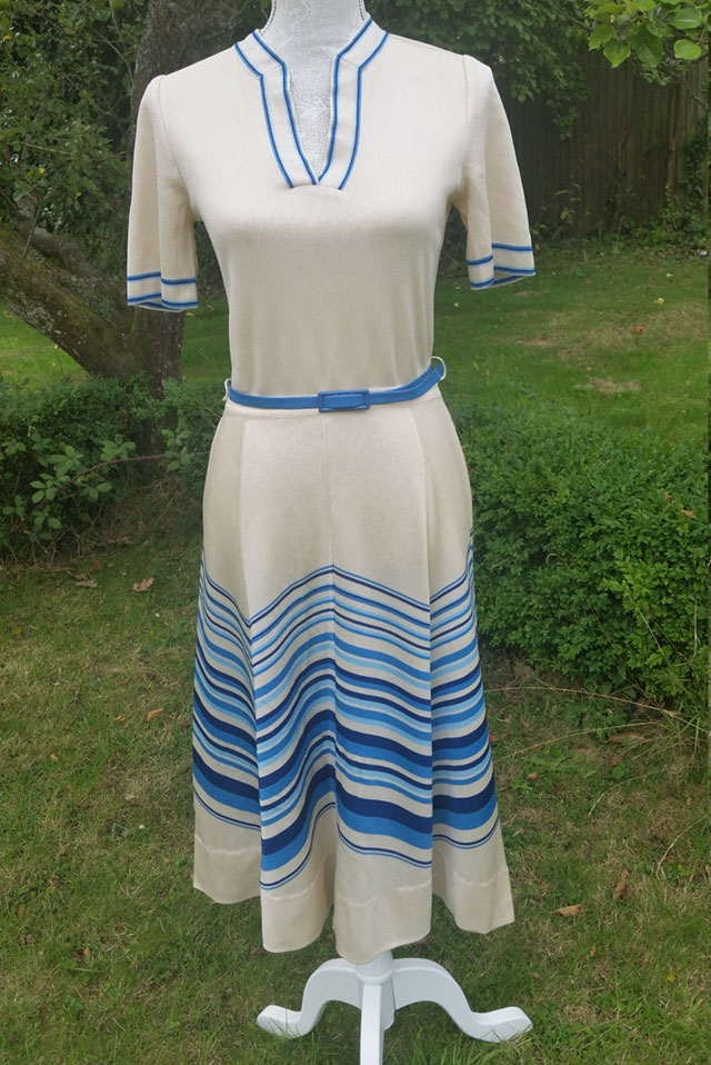 70s Jean Allen sailor dress