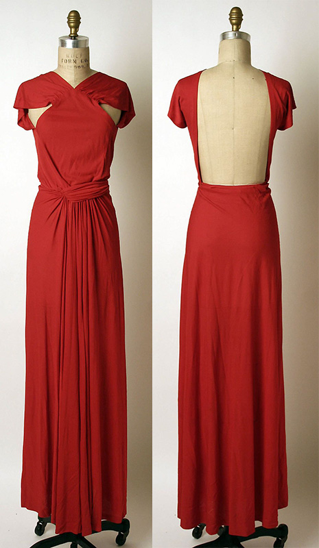 Madame Grès silk evening dress, 1970