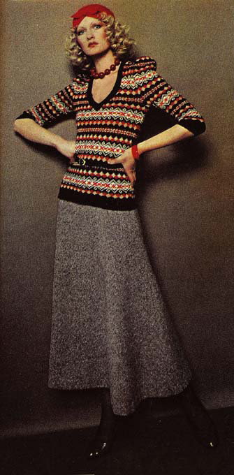 Fair Isle jumper and skirt, 1978