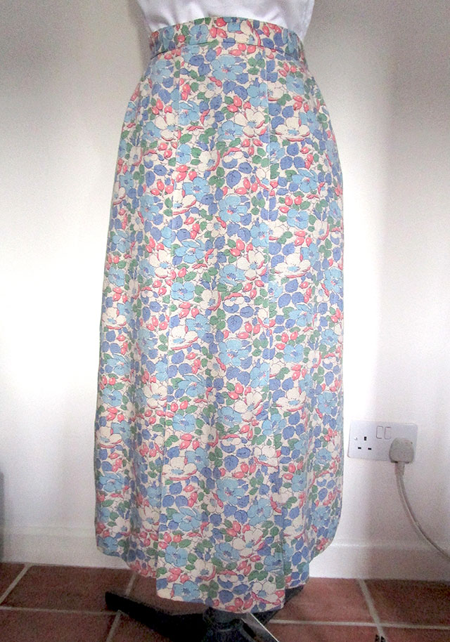 1930s feedsack skirt