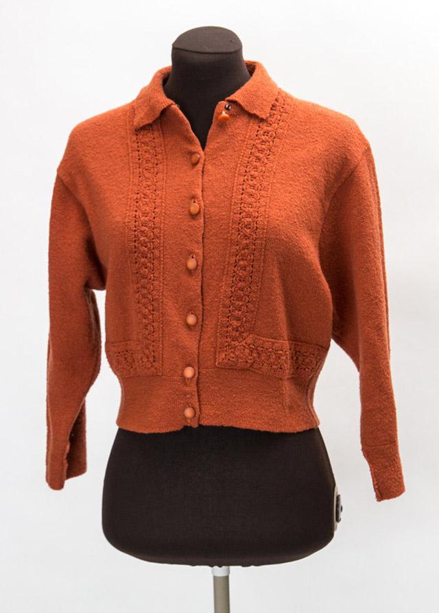 1940s rust cardigan