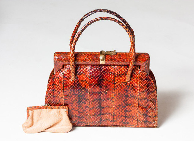 1940s snakeskin bag