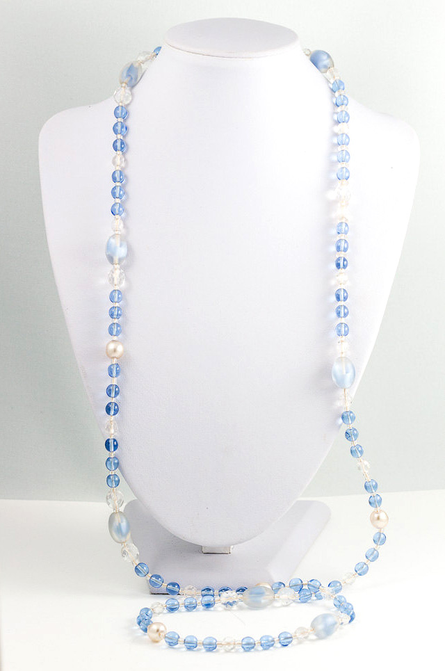 Pale blue Flapper necklace
