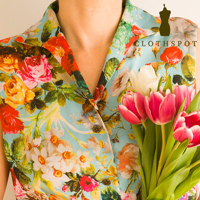 Floral fabric from Clothspot
