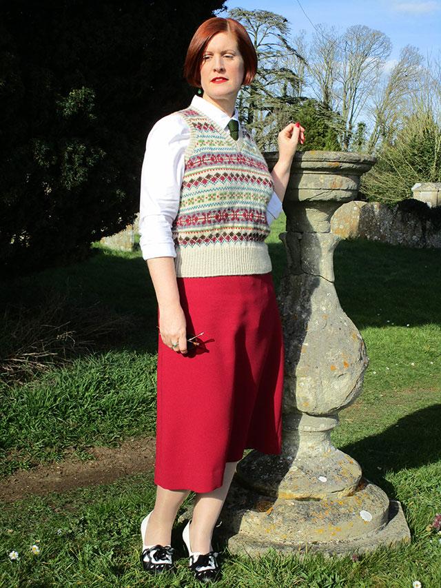 1930s Fair Isle outfit
