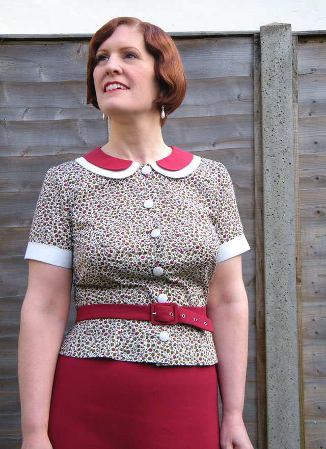 1930s peter pan collar blouse