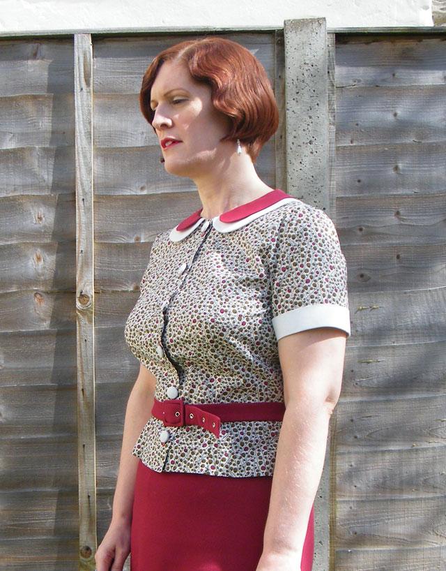 1930s peter pan collar blouse