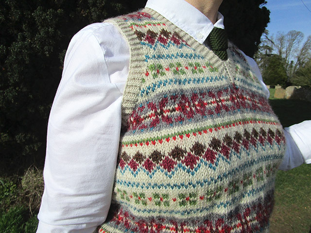 Fair Isle pattern detail