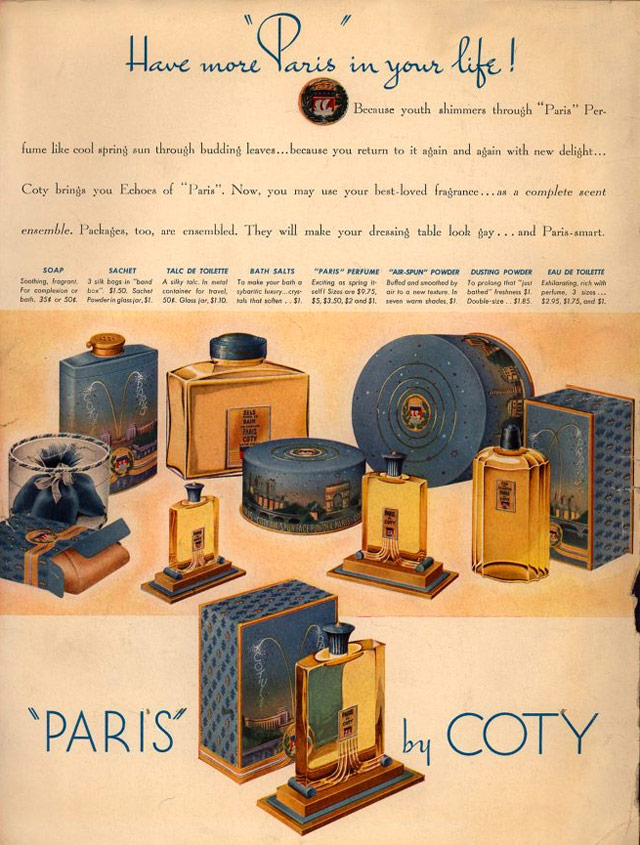 Coty Advert from The New Yorker 1938